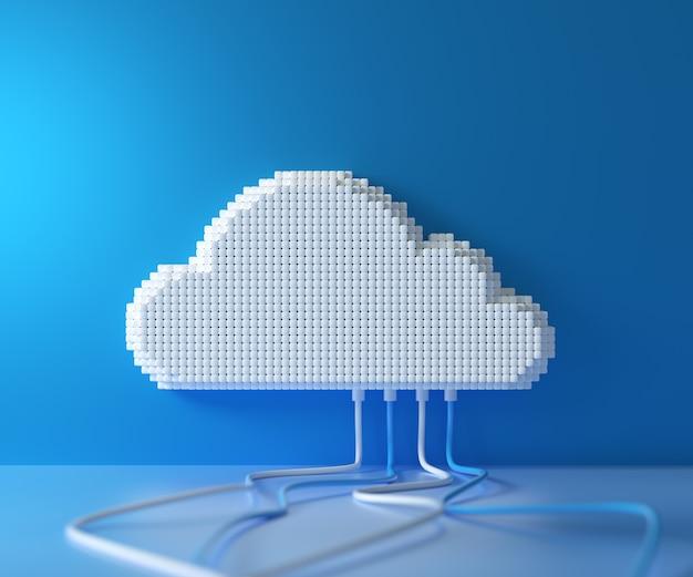 Servicio de computación en la nube, concepto de alojamiento de tecnología de almacenamiento de datos en la nube