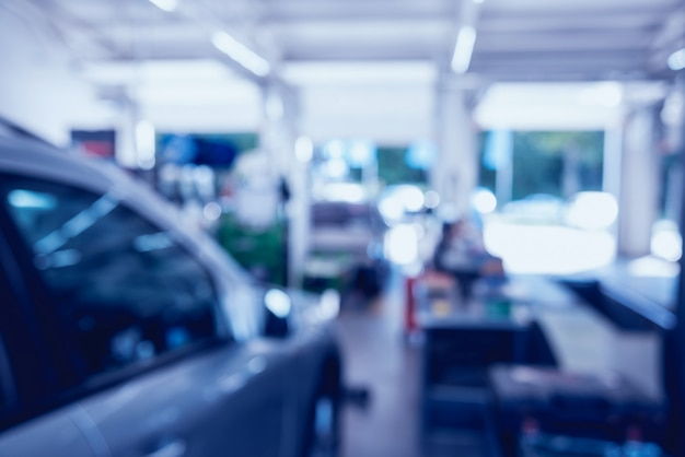 Servicio de reparación de automóviles borrosa.