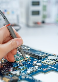 Servicio de reparación electrónica, espacio de texto.