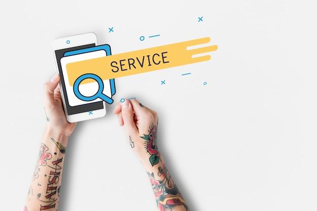 Servicio de satisfacción al cliente atención en línea.