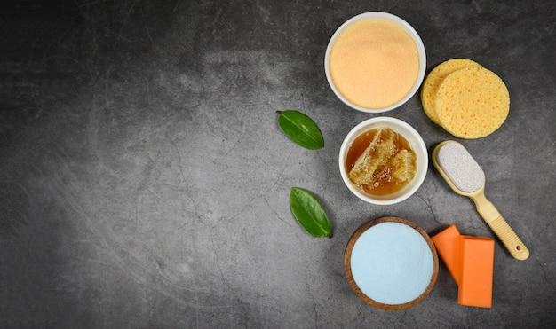 Set de productos para el cuidado natural del cuerpo dermatológico a base de hierbas cosmético higiénico para tratamientos de belleza