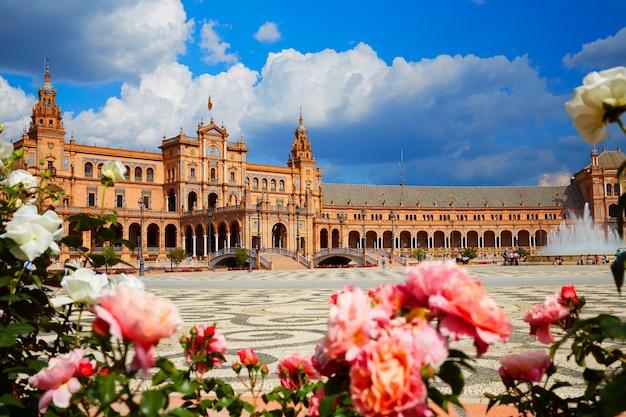 Sevilla plaza de españa en andalucía