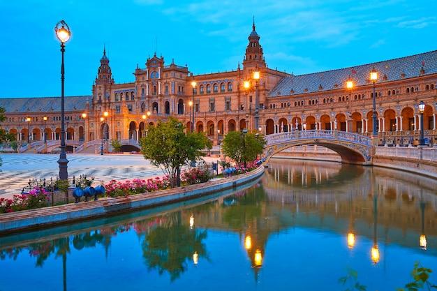 Sevilla plaza de españa atardecer andaluz sevilla