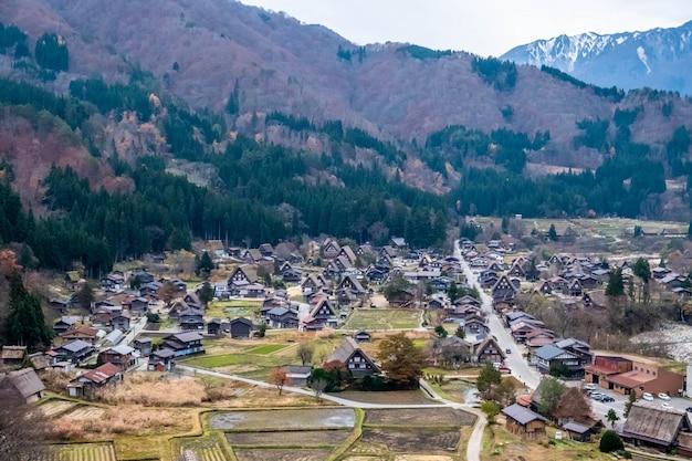 Shirakawa-go pueblo en japón