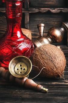 Shisha con sabor a coco