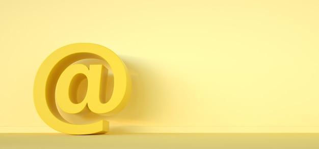 Signo de correo electrónico de elemento de diseño de correo 3render.