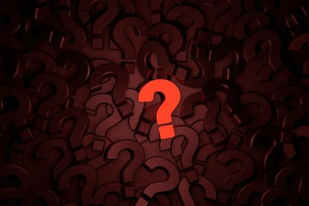 Signo de interrogación signo banner. representación 3d