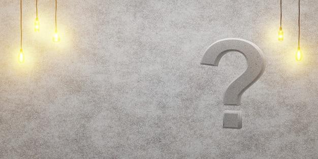 Signo de interrogación sobre un fondo de loft
