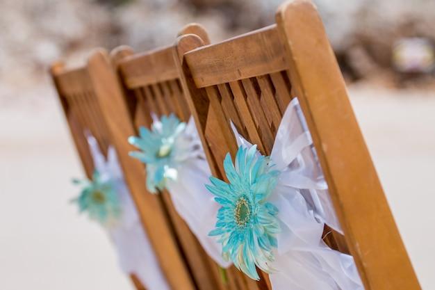 Silla de boda de madera