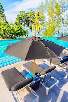 Silla de la piscina del paraguas