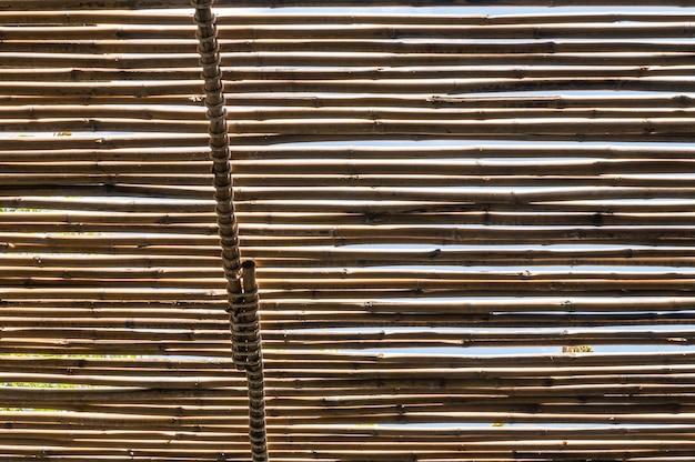 Silueta del arte borroso en el techo del techo de bambú en el baño.