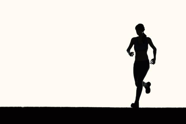 Silueta mujer corriendo o corredora