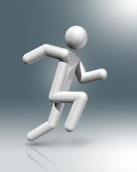 Símbolo 3d de atletismo, deportes olímpicos