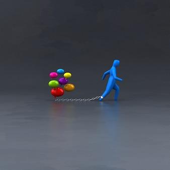 Símbolo de carga - ilustración 3d