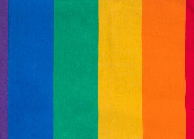 Símbolo colorido de la comunidad lgbt