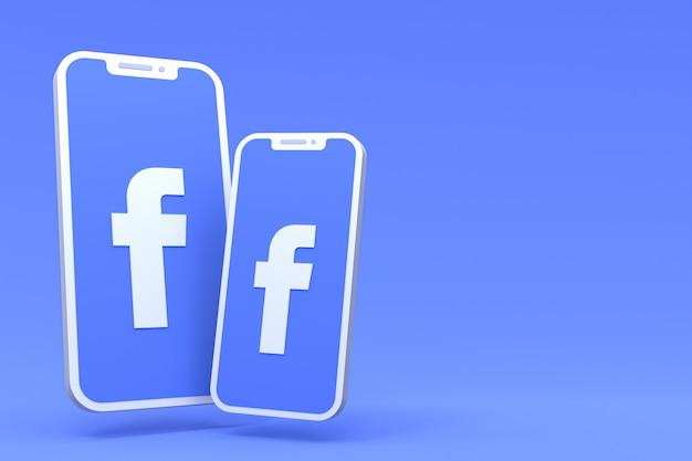 Símbolo de facebook en pantallas de teléfonos inteligentes