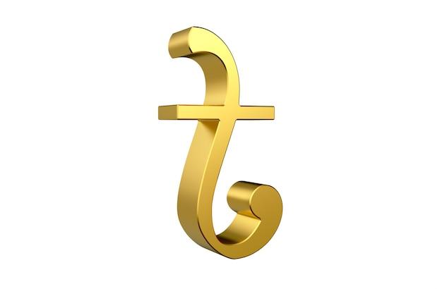 Símbolo de moneda de bangladesh taka render 3d
