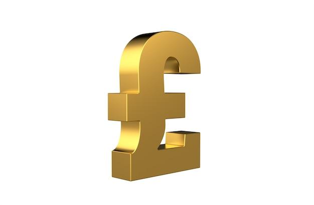 Símbolo de moneda libra esterlina gbp en 3d