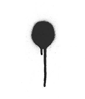 Símbolo de la pintura abstracta salpicaduras sucia