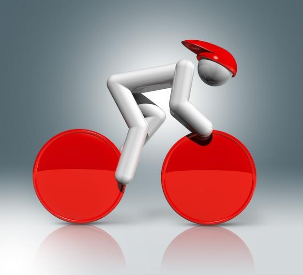 Símbolo de la pista de ciclismo en 3d, deportes olímpicos