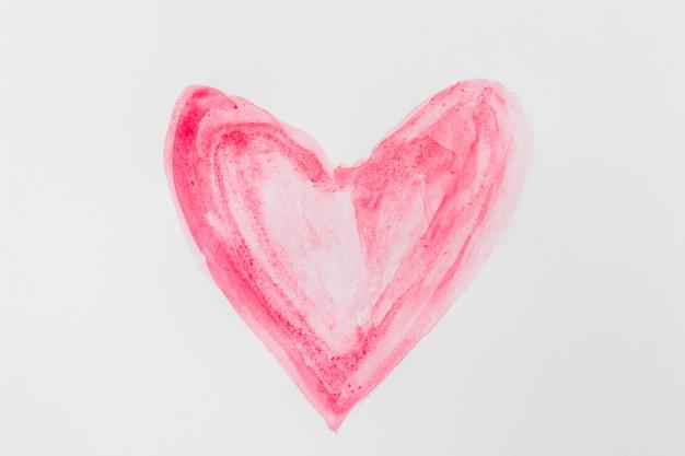 Simbolo rojo de corazon