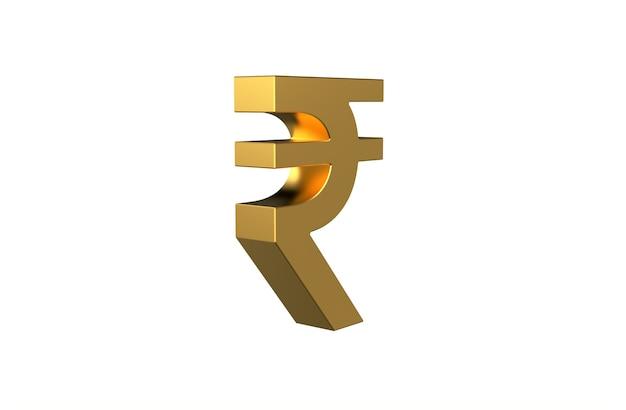 Símbolo de rupia de moneda india inr en 3d