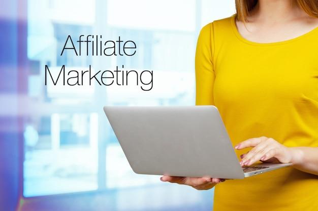 Símbolos comerciales de marketing de afiliados