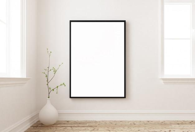 Simulacros de cartel en una pared 3d