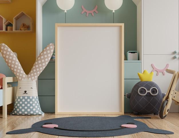 Simulacros de marco de póster en la habitación de los niños.