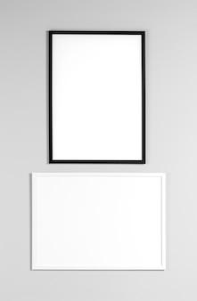 Simulacros de marcos en la pared
