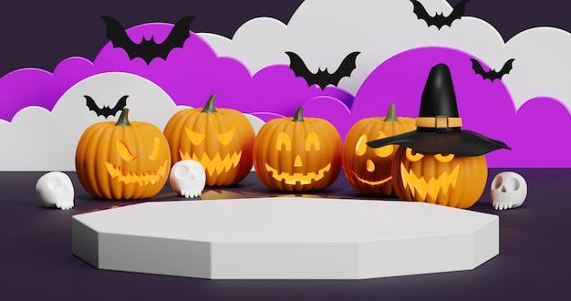Simulacros de podio para presentación de producto concepto mínimo abstracto halloween
