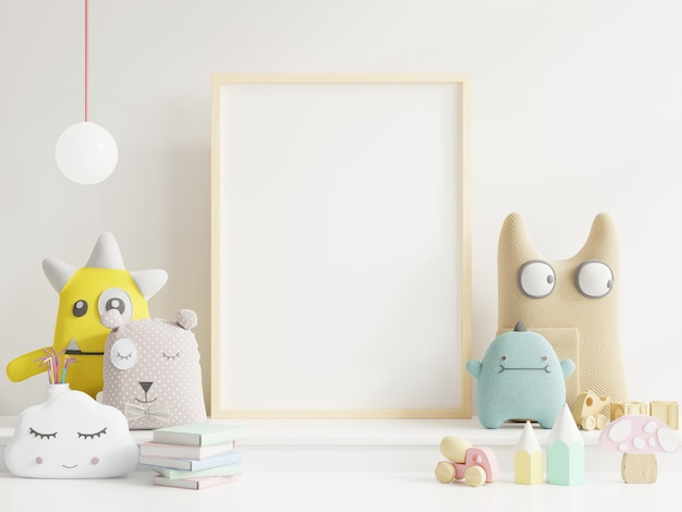 Simulacros de póster en la habitación del niño