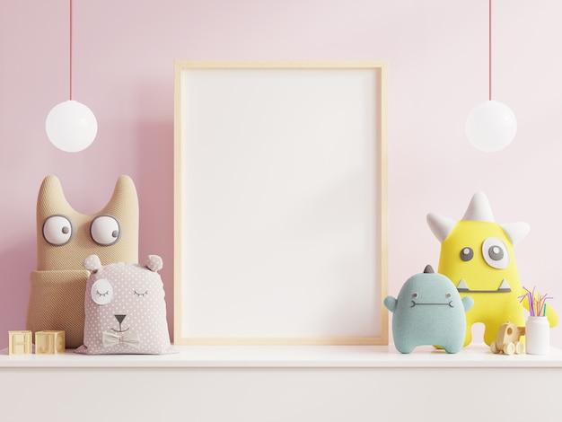 Simulacros de póster en la habitación de los niños