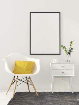 Simulacros de póster en interior blanco