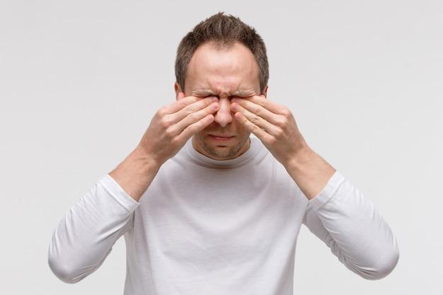 Síndrome de ojo seco, aguado, picazón.