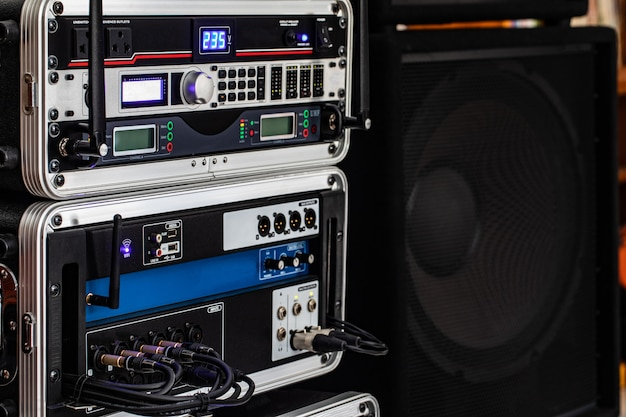 Sistema de audio para reuniones de trabajo.