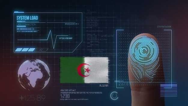 Sistema de identificación biométrica de escaneo de huellas digitales nacionalidad argelia