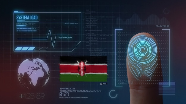 Sistema de identificación biométrica de escaneo de huellas digitales nacionalidad de kenia
