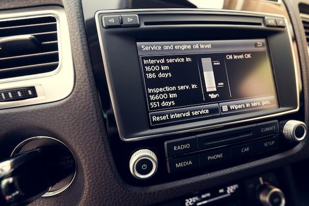 Sistema inteligente de pantalla táctil multimedia para automóvil.