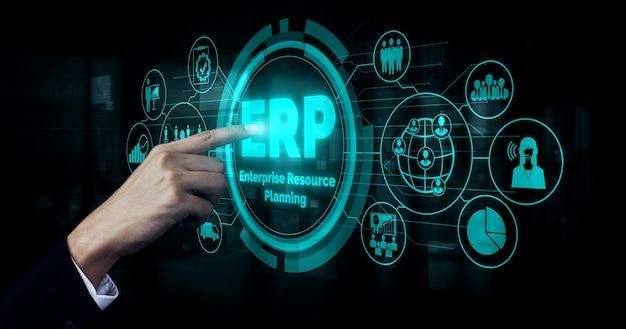 Sistema de software erp de gestión de recursos empresariales para el plan de recursos empresariales