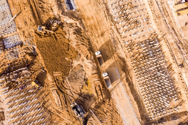 Sitio de construcción desde lo alto