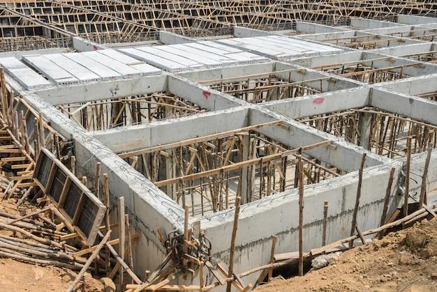 Sitio de construcción en progreso