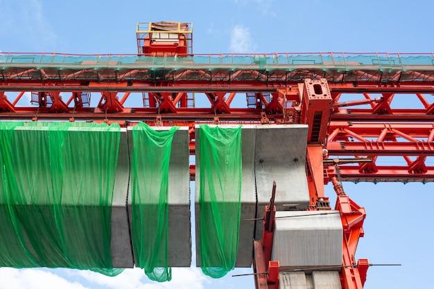 Sitio de construcción del tren aéreo bangsue-rangsit
