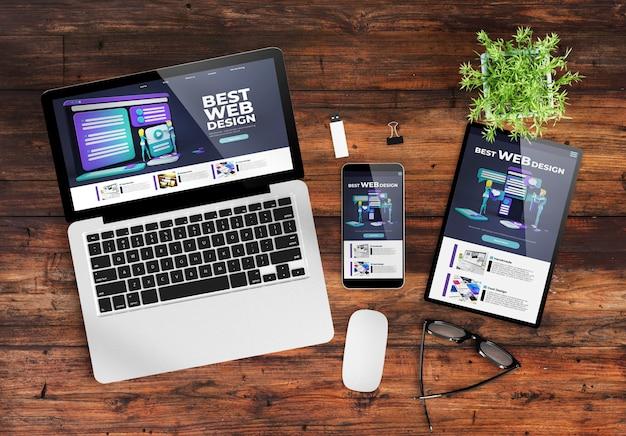 Sitio web de diseño receptivo