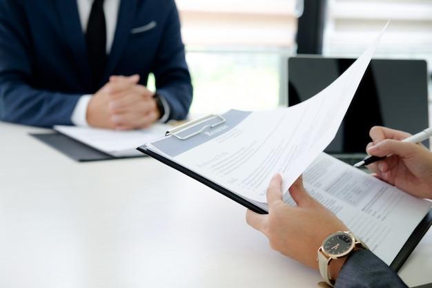 Situación de la empresa, el concepto de entrevista de trabajo.