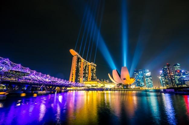 Skyline de la ciudad de singapur