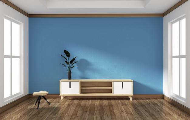 Smart tv en diseño de habitación de estilo vacío. redistribución 3d.