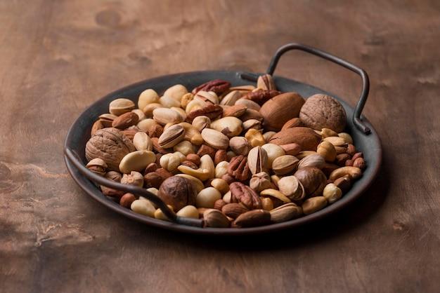 Snack de frutos secos orgánicos de alta vista
