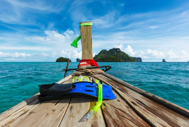 Snorkel en barco
