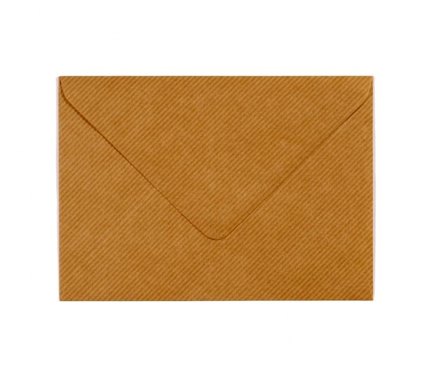 Un sobre de color marrón